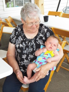 Litte Julianne with great gramma