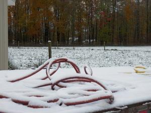 Frozen hoses