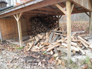 Making progress in the woodshed