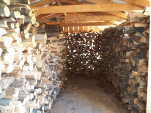 wood shed showing our slow year