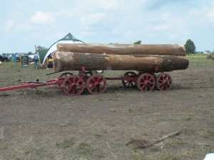Old Time Log Wagon