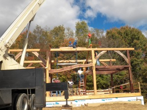 David and Margret's House going up